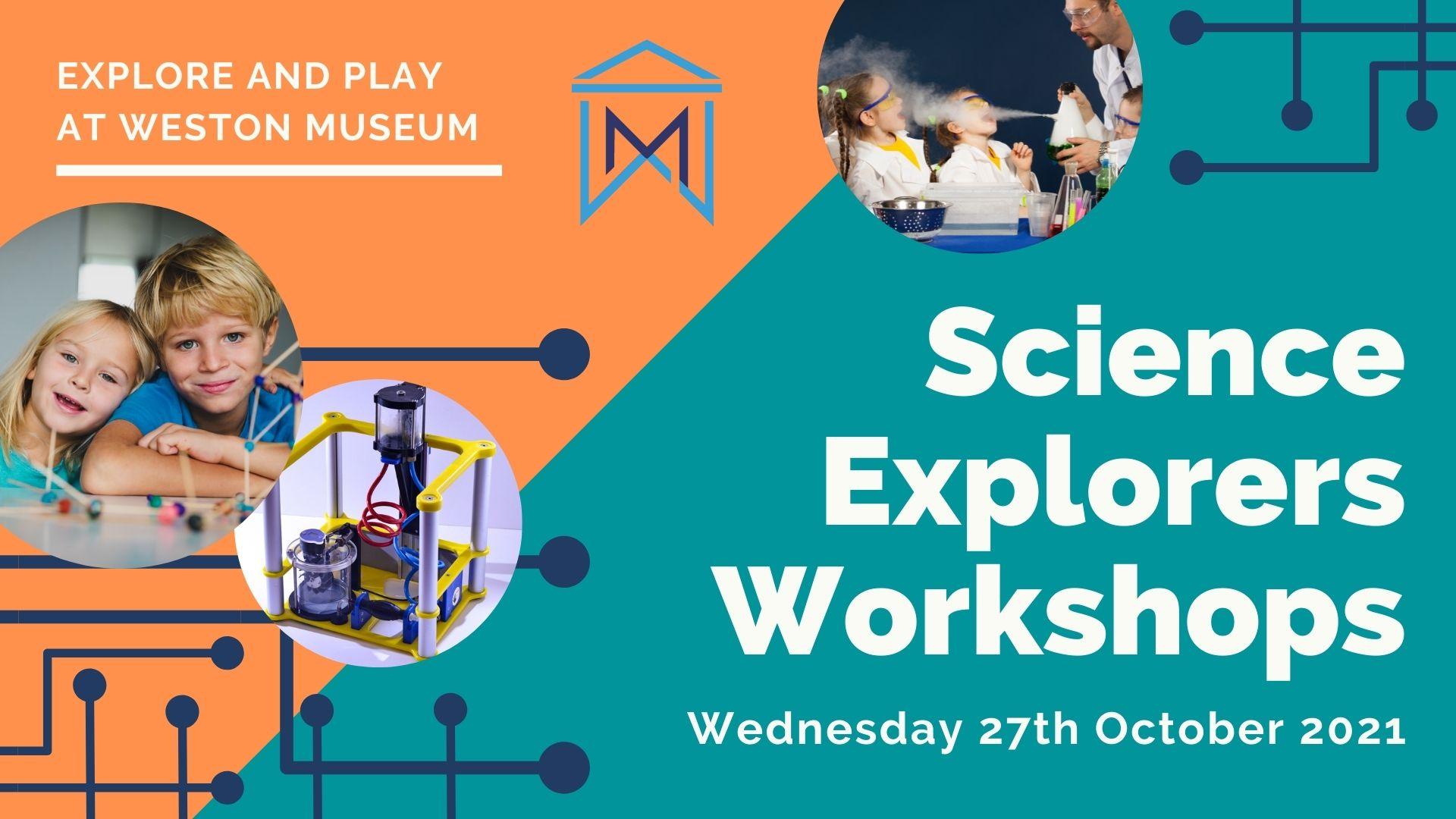 Event poster for Science Explorers Workshop