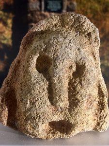 Steep Holm carved head