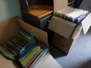 finished packs packed into cardboard boxes