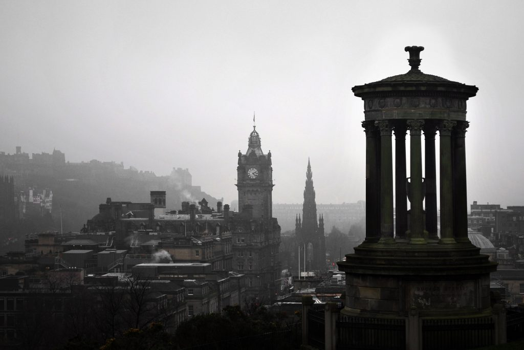 Calton Hill, Edinburgh (image courtesy of Pixabay)