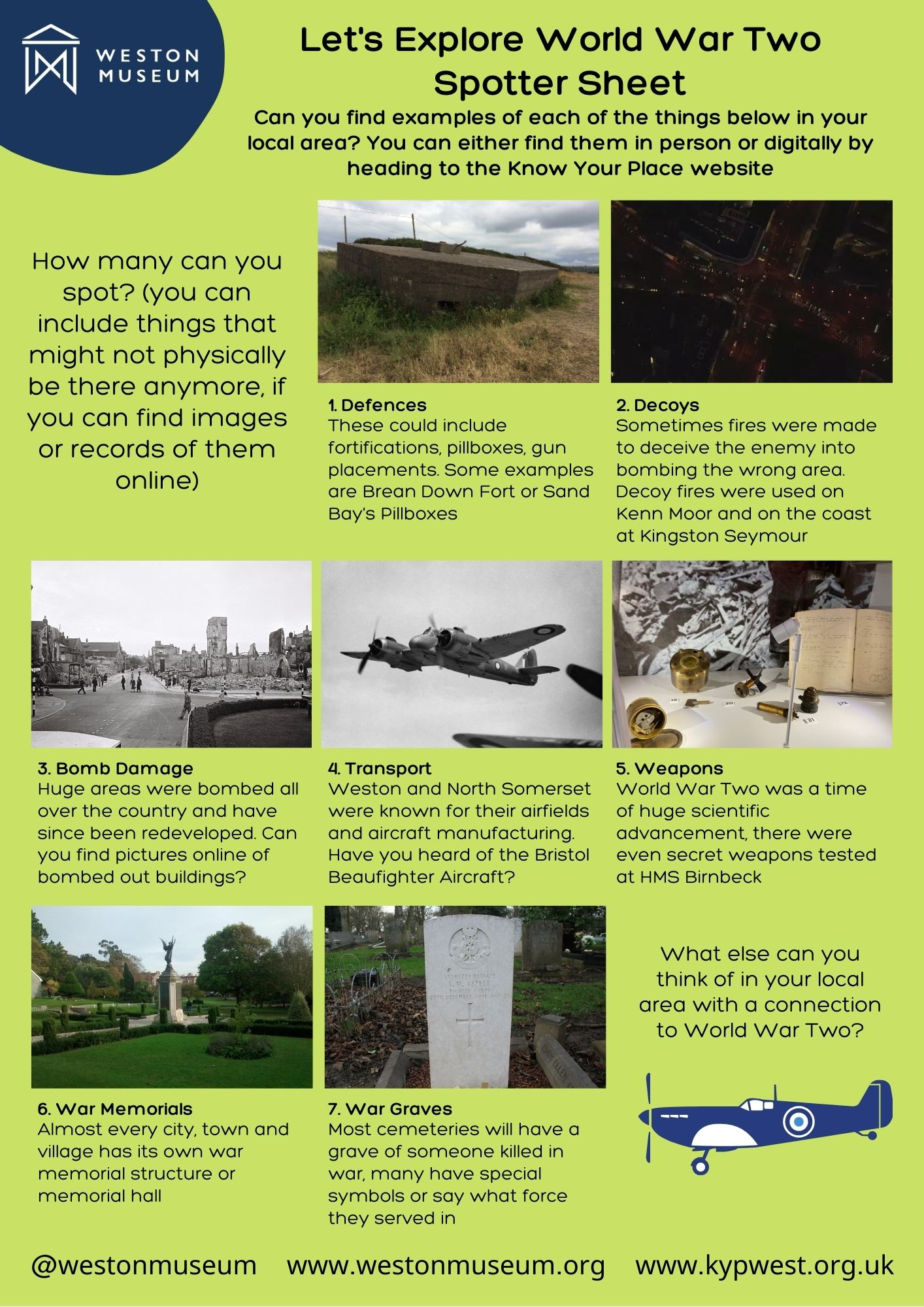 Spotter Sheet Lets Explore WW2