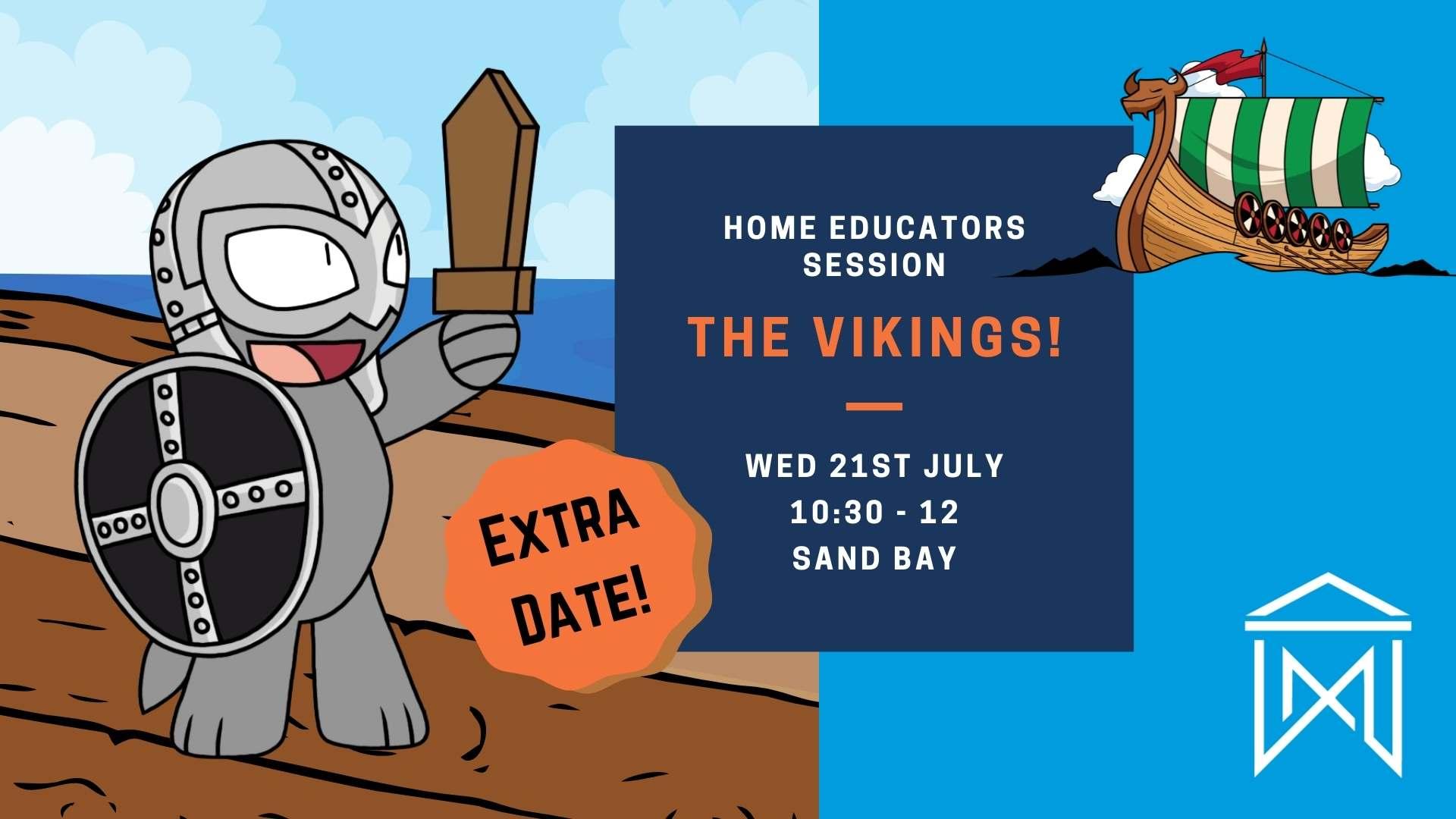 Home educators Session vikings poster