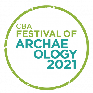 Festival of Archaeology Logo 2021 green circle with text